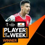 "Martinelli Europa League ""Player of the Week"""