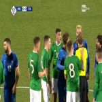 Moise Kean (Italy U21) & Troy Parrott (Ireland U21) straight red cards