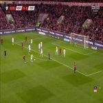 Elabdellaoui Rabona skill vs Spain