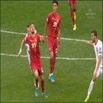 Nestorovski stamp on Lewandowski in Poland - Macedonia Euro Qualifier (Yellow Card)