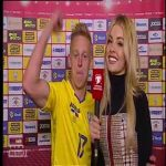 Oleksandr Zinchenko's reaction after Ukraine sealed a place at Euro 2020 last night