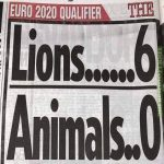 A headline from the Sun about the Bulgaria - England match. Are insults and dehumanising language really the way to combat racism?