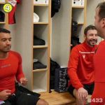 Bin challenge attempt by legends (including RVP, RVN, Van der Sar, Kluivert & Van der Vaart) with commentary by Louis van Gaal after Van der Vaart's testimonial