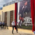 Edwin van der Sar officially opens the 'Edwin van der Sar Stadium' in Guangzhou, China