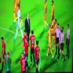 Veracruz players applaud Tigres after they failed to support protest.