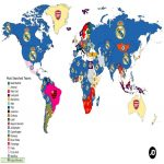 The most (Google) searched football clubs in the world.
