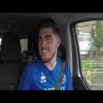 Queens Park Rangers going for a ride in car