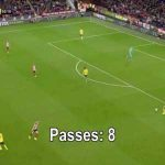 Arsenal trying to play out from the back vs Sheffield United