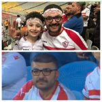 mossad alkiki a zamalek of egypt fan attends his first game in stadium 34 days after his son adham passed away in a car accident on their way to attend the cairo derby in the egyptian super cup last month