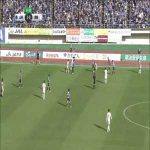 Montedio Yamagata of J2 (Japan) score from behind the halfway line vs Ehime...twice. In the space of 90 seconds.