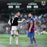 With his brace against Valladolid, Messi(608) has for the first time surpassed Ronaldo(606) in goals at club level. With 695 and 813 games played respectively.