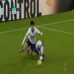 Son Heung-min (Tottenham) penalty shout vs Everton