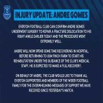 An update to André Gomes' horror injury. He is expected to make a full recovery after a successful operation to repair the dislocation fracture.