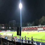 Fortuna Köln vs. Aachen (4th tier) was scheduled for Monday due to a TV broadcast. In response: Fortuna fans throw tennis balls onto the pitch, both sets of fans blow whistles, game stopped for 15mins as the referee's whistles couldn't be heard.