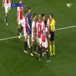 Daley Blind and Joel Veltman (Ajax) second yellow card against Chelsea 68'