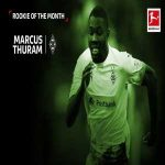 Marcus Thuram wins the Bundesliga Rookie of the Month award for the second time in a row.
