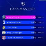 2019/20 UCL pass masters: midfielders