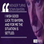 Arsene Wenger turns down #FCBayern talks. #beINWenger