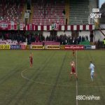 McDermott goal for Cliftonville vs Warrenport in Northern Ireland (brilliant goal!)