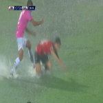 The Copa Sudamericana final gets suspended after 30 minutes as heavy rain pours down over Asunción
