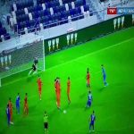 Great free kick routine from Israeli league - almost worked there