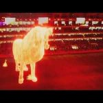 Estudiantes mark return to stadium with giant lion hologram