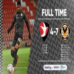 Full time: Cheltenham Town 4 - 7 Newport County