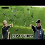 Difference between Guardiola and Klopp's offensive 2-3-5 formation.