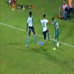 [BOT-ALG] The yellow card for Botswana defender for a foul on Youcef Atal (Algeria)