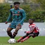 David easmon (ajax player) in the match ajax vs Sparta Rotterdam u15