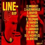 Belgium starting eleven vs Cyprus