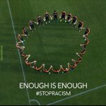 The Dutch soccer team standing together against racism