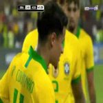 Coutinho tries his best to score an own goal, post denies him, Coutinho thanks the post and laughs it off