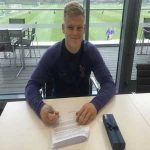 Former Bury & Bolton youth defender Aaron Skinner signing his @SpursOfficial contract.