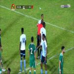 G.Gaogangwe (Botswana) gets the most lenient yellow card in History for a vicious tackle on Y.Atal (Algeria)