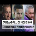 Kane and Alli's reaction to swapping Poch for Mou.