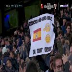 Real Madrid fans held a banner saying 'Rodrygo, Vini, Lucas, Bale, in that order' when Gareth Bale was subbed on.