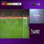 VAR review of Southampton's penalty.