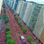 Flamengo victory parade in Rio de Janeiro.