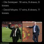 Ole Solskjaer and David Moyes' first 34 games as Man Utd manager