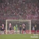 """Five years ago today, River Plate beat rivals Boca Juniors in the Sudamericana semifinal, with keeper Barovero saving a 1st-minute penalty, in the first of four straight international ties won by the """"Millonarios"""" over their lifelong rivals"""