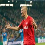 Red Bull Salzburg's Erling Haaland has become the first teenager in the history of the European Cup/UEFA Champions League to score in five consecutive appearances in the competition.