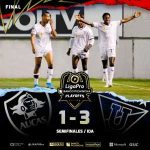 FT - Aucas (1) vs. LDU Quito (3) - LigaPro Ecuador's first semifinal.