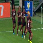Gabriel Barbosa's & Flamengo teammates' dancing celebration after his 1st goal vs. Palmeiras