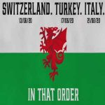 """Wales NT uses infamous """"Bale Flag"""" to announce Euro 2020 draw."""