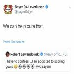 "Lewy´s agent answers recent banter of Bayer Leverkusen: ""Did we mention that your scouting department claimed Lewy is not good enough for the Bundesliga and thus not signed him. But keep making fun of him"""