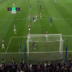 Tom Heaton incredible save vs Willian free-kick (Chelsea - Aston Villa)