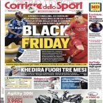 Italian newspaper Corriere dello Sport's headline is 'Black Friday', as Romelu Lukaku will play against Chris Smalling this Friday in Serie A.