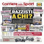 "Today's CorSport headline claims they have suffered a lynching for their ""Black Friday"" front page. They really used the term lynching"