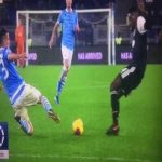 Luiz Felipe tackle on Matuidi. No foul or card given.